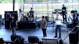 Big Time Rush at Kansas State Fair (Beginning) Singing Famous/Big Time/Till I Forget About You
