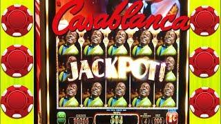 ★BACK TO BACK BONUSES★ CASABLANCA SLOT MACHINE ★BIG WIN LINE HITS ★CASINO GAMBLING!