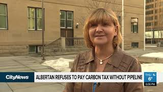 Albertan refuses to pay carbon tax until pipeline built