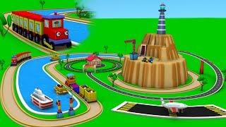 Toy train videos for Children - Trains for children - choo train cartoon - Toy Factory Cartoon