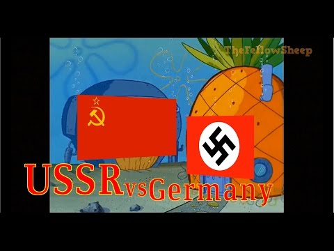 Xxx Mp4 USSR Vs GERMANY Explained By Spongebob 3gp Sex