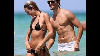 candice swanepoel and boyfriend on the beach