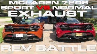 McLaren 720S Sport vs Normal Exhaust Comparison and Rev Battle