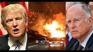 Trump Observes California wildfires destructive devastation November 2018 News