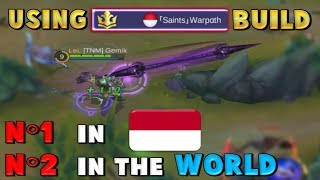 INDONESIAN TOP BUILD – Trying SAINTS WARPATH MOSKOV GEAR - Mobile Legends