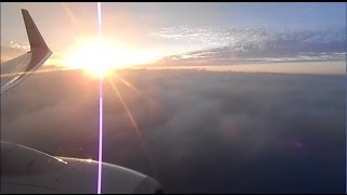 Landing at Chicago O'Hare airport, beautiful MORNING & THUNDER