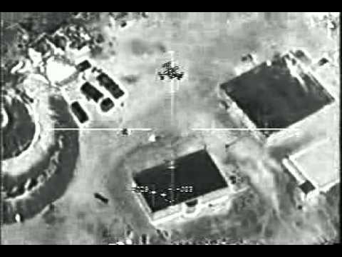 Avión artillado AC 130 atacando un poblado talibán
