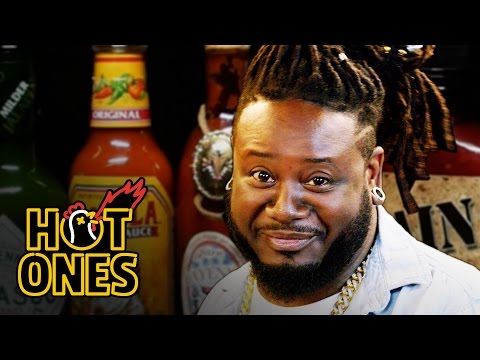 T Pain Has a Tongue Seizure Eating Spicy Wings Hot Ones