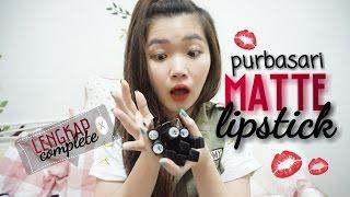 Review and swatches Purbasari Lipstick - lengkap + GIVEAWAY - Katherin [ bahasa indonesia ]