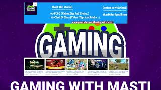 Intro video of Gaming with Masti 2019-channel trailer of Gaming with Masti 2019