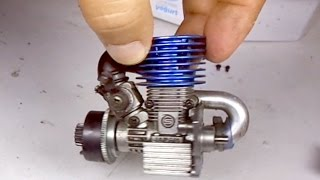 Nitro engine - Start after 6 years!! - Mini nitro yakıtlı motor- 6 yıl sonra çalıştı!!