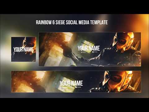 Xxx Mp4 FREE GRAPHICS Rainbow Six Siege Template Twitter Header Youtube Banner Profile Picture 3gp Sex