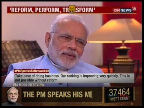 watch Watch an exclusive interview of Prime Minister Shri Narendra Modi on Network 18: 02.09.2016