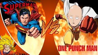 ONE PUNCH MAN vs SUPERMAN! Cartoon Fight Club Episode 39 REACTION!!!