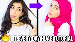Non Hijabi Does A Simple Everyday Hijab Tutorial