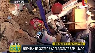 Adolescente pierde la vida tras derrumbe de cerro en El Agustino (1/2)