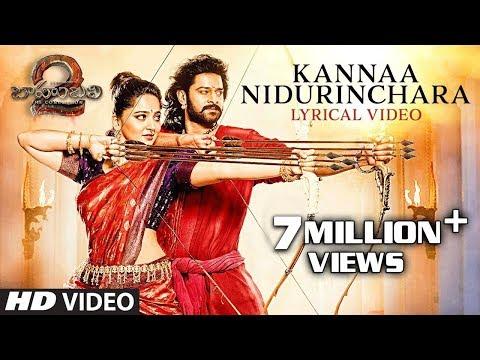 Kanna Nidurinchara Full Song With Lyrics - Baahubali 2 Songs | Prabhas, Anushka | SS Rajamouli