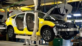 Exclusive footage inside the 2016 Honda Civic factory