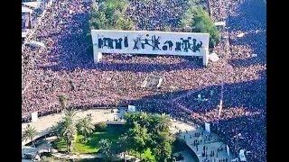 السيد مقتدى الصدر من ساحة التحرير-المتظاهرون على اسوار المنطقة الخضراء وغداً سيكونون بداخلها ^_^