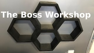 Making Hexagon Honeycomb Wall Shelves