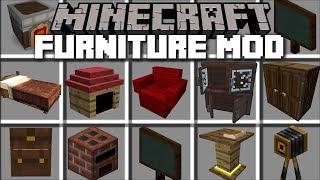 Minecraft FURNITURE MOD / REBUILDING HOUSES IN MINECRAFT!! Minecraft