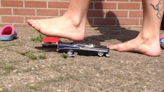 GIANT GIRL CRUSHING TOY CARS - TOTALLYLOVEFEET
