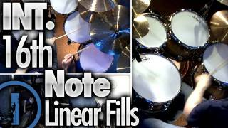 16th Note Linear Fills - Intermediate Drum Lessons