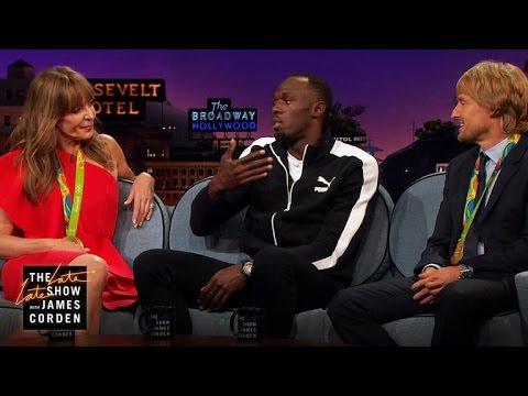 Athletic Feats w Allison Janney Owen Wilson & Usain Bolt
