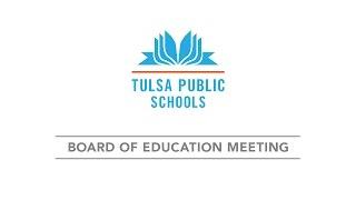 04/05/2017 Special Board of Education Meeting, Tulsa Public Schools