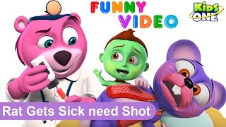 RAT Gets Sick Needs Shot by Doctor BEAR | Funny Prank Videos | Animals in Real Life for Children