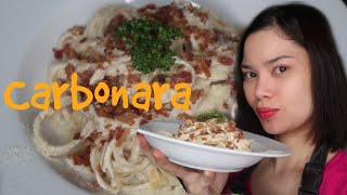 HOW TO COOK EASY  CARBONARA (PINOY STYLE)