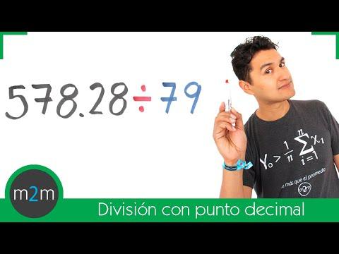 División de números con punto decimal