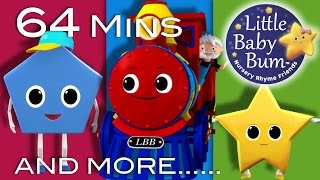 Shapes Train Song | Plus Lots More Nursery Rhymes! | 64 Minutes Compilation from LittleBabyBum!