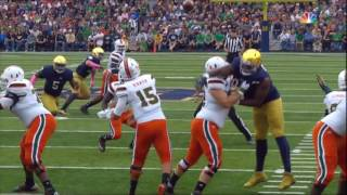 Notre Dame vs. Miami 2016 Highlights - ND 30 - UM 27