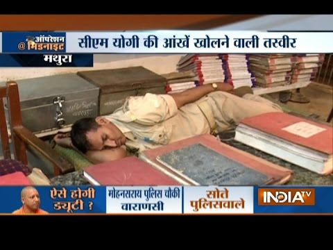 Xxx Mp4 Midnight Operation India TV Camera Captures UP Cops Snoring In Police Stations While On Duty 3gp Sex