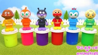 アンパンマン アニメ おもちゃ アンパンマン スライム だれがかくれているかな? ❤ 色あそび animekids アニメキッズ animation Anpanman Toy Slime