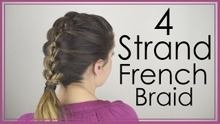 How to do a 4 strand French Braid on yourself