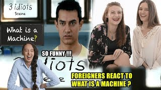 Foreigners React To What Is A Machine? - Funny Scene - 3 Idiots - Aamir Khan