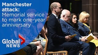 Manchester attack: Prince William attends memorial marking one-year anniversary