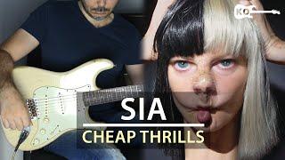 Sia - Cheap Thrills - Electric Guitar Cover by Kfir Ochaion