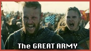 The Great Viking Army to avenge Ragnar's death  | Vikings S04E18