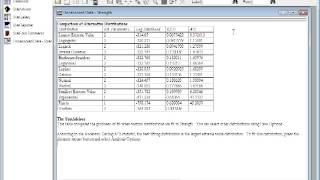 Statgraphics Fitting Distribution