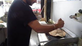 Indian Street Food: Aloo Cheese Paratha - Vegetarian Recipe at Mumbai Express, Kingsbury, London.