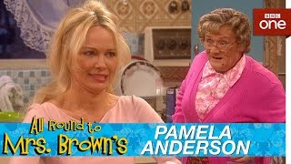 Pamela Anderson in Mrs Brown's kitchen - All Round to Mrs Brown's: Episode 1 - BBC One