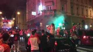 Croatia fans celebrate World Cup semi-final win over England, Zagreb, 11.07.2018., Part 2.