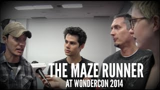 'The Maze Runner' at WonderCon - Dylan O'Brien, James Dashner, Wes Ball, and Will Poulter