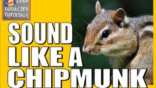 Sound like a chipmunk - change your voice higher or lower using Audacity - free tutorial