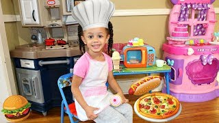 Pretend Play Food Toys Cooking Toy Microwave Kitchen Playset Imani