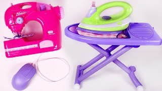 Sewing Machine and Iron Playset for Children Fun Toys for Kids