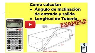 Cálculo de la Longitud y Angulo de Inclinacion de una Tuberia
